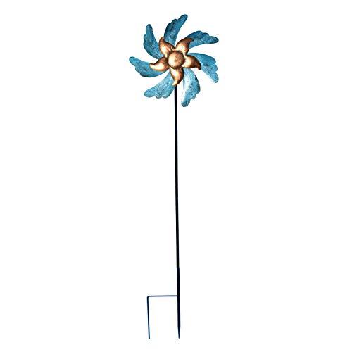 MERIGLARE Iron Windmill Garden Yard Ornament Stake Holiday Decorative Wind Catcher