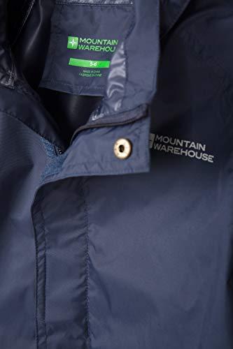 Mountain Warehouse Pakka Kids Waterproof Jacket - 2 Pockets Childrens Jacket, Breathable, Packable Rain Jacket - Ideal for Hiking, Dark Blue, 3-4 Years