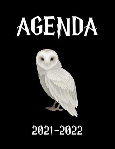 AGENDA 2021-2022: Agenda Hedwige - Planner 2021 2022 Français - Organisateur Journalier Semainier Mensuel - Ecole - Etudes - Bureau - Famille - De Août 2021 à Août 2022
