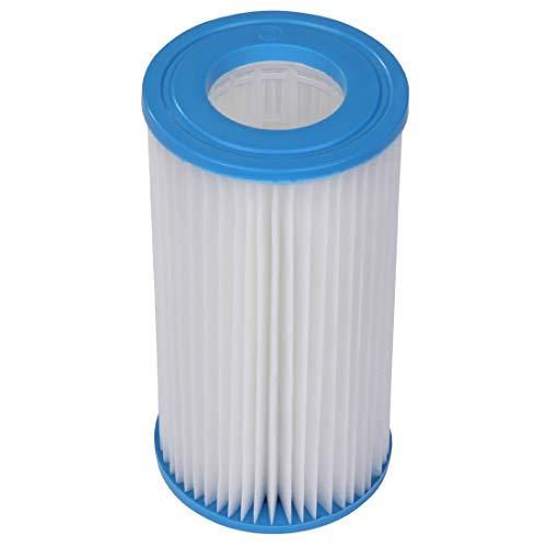 Blueborn C106203 - Cartuccia filtrante per Pompa da Piscina, Ø 10,6 x 20,3 cm, Colore: Bianco