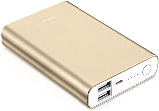 Universal 13000mAh Power Bank with Dual External Battery Charger Compatible with Samsung Galaxy S7 Edge G935F in Gold
