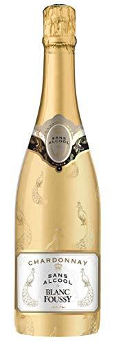 BLANC FOUSSY Vin Blanc Petillant Desalcoholise 0.75 L - Lot de 6