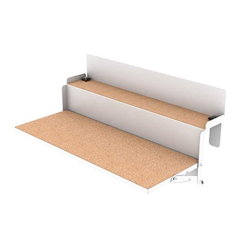 LEVIRA - Mesa Plegable, Mesa suspendida de balcón, Mesa Auxiliar ForFun - 64 x 29 - Blanco