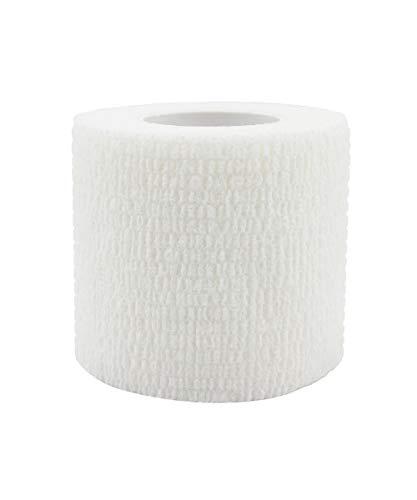 Risscly Weiß 5cm cohesive Bandage,selbsthaftende fixierbinde verband bandage mullbinden selbsthaftend bandagen 6 Rollen
