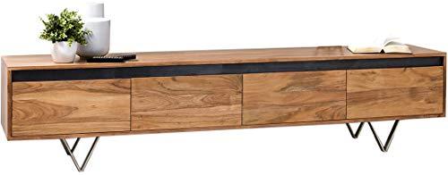 DELIFE Designer-Lowboard Stonegrace 200 cm Akazie Natur 4 Schübe