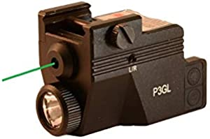 HiLight P3GL 500 lm Strobe Pistol Flashlight & Green Laser Sight Combo