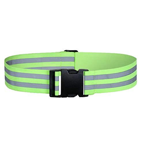 ACAMPTAR CinturóN Reflectante de Alta Visibilidad, Equipo Reflectante para Correr, Adecuado para Correr de Noche, Andar en Bicicleta y Caminar