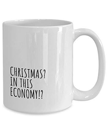 N\A Taza de Navidad en Esta economía Regalo Divertido para la pandemia Broma de cuarentena Mordaza de autoaislamiento Café Taza de té Divertida Idea Actual