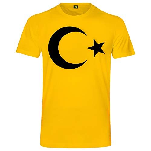 Türkei T-Shirt | Turkey | Türkiye | Istanbul | Ankara | Antalya | Flagge | Fahne Gelb L