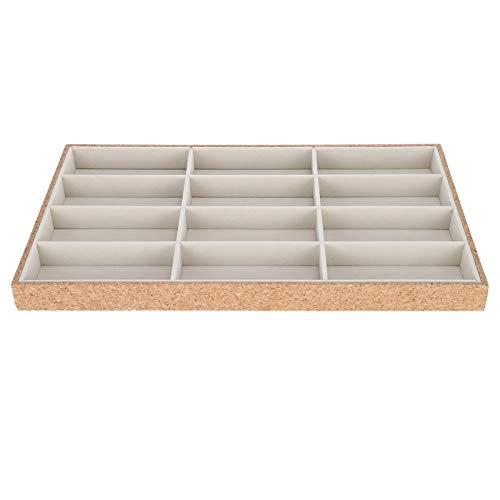 Caja de almacenamiento para gafas de sol Caja de gafas de madera cubierta con pelusa. Para exhibir gafas de sol