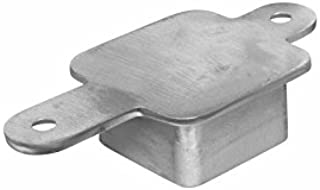 Square Stainless Steel Post Cap to Top Rail Connector Component for Flat Wood or Metal Top Rail (Intermediate Post)