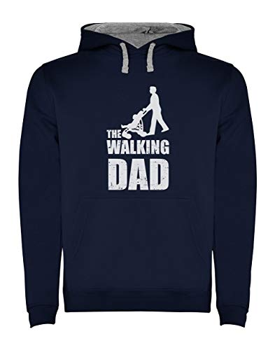 Green Turtle T-Shirts Sudadera con Capucha para Hombre- Regalos Originales para Padres Primerizos - The Walking Dad Large Azul Oscuro