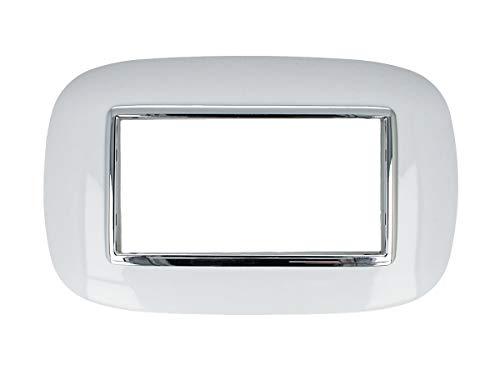 SANDASDON SD22004 Placca Oval 4M Bianco Compatibile Bticino Axolute
