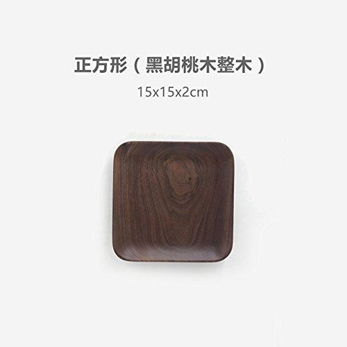 Bezigeorey Bois De Noyer Noir Japonais Carrés Collations Les Collations De Fruits Snack-Lave Lave Vaisselle en Hêtre,Square 15X15 (Le Noyer Noir, Ensemble De Bois)