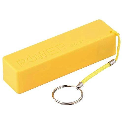 Cargador de tamaño portátil Creative Fashion Perfume Power Bank USB Funda de batería de Respaldo Externo para teléfono móvil - Amarillo