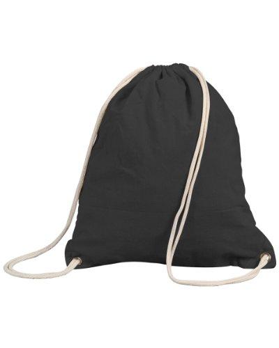 Shugon New & Stafford Sports Outdoors Sac à dos fourre-tout avec cordon de serrage Coton 13Ltr, Noir, 13LTR