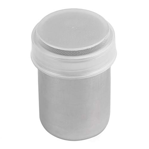 ukYukiko RVS Chocolade Shaker Cocoa Meel Koffie Kaneel Poeder Bucket Duster Tank Keuken Filter Koken Tool