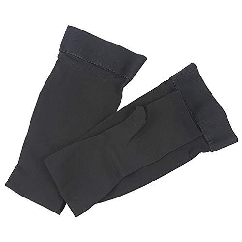 Healifty 1 Paar Schenkelhohe Kompressionsstrümpfe mit offener Zehenpartie elastische atmungsaktive Socken für Männer und Frauen (schwarz Größe XXL)