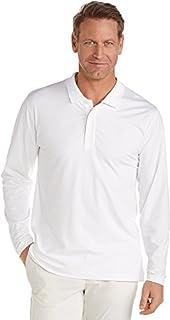 Coolibar UPF 50+ Men's Long Sleeve Weekend Polo Shirt -...