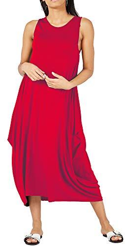 Vestido Ancho con Cuello Redondo