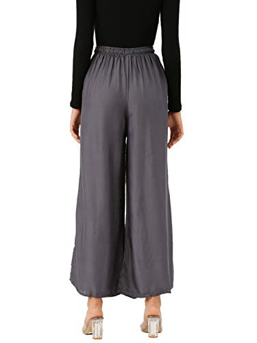 Vastraa Fusion Women's Relaxed Fit Rayon Palazzo (TS0175_Steel Grey_Free Size)