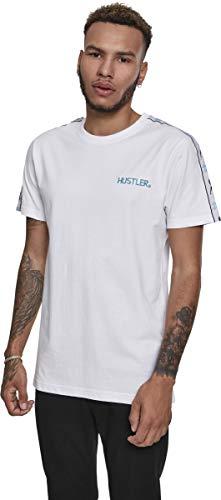 MERCHCODE Herren Hustler Sidetape T-Shirt, White, M