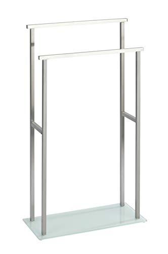 WENKO Toallero de pie Debar - Toallero de pie, Acero inoxidable, 20 x 83 x 46 cm, Satinado