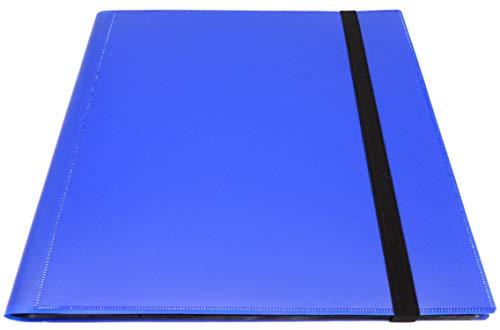 docsmagic.de Pro-Player 12-Pocket Playset Album Dark Blue - 480 Card Binder - MTG - PKM - YGO - Álbum para Tarjetas Azul Oscuro