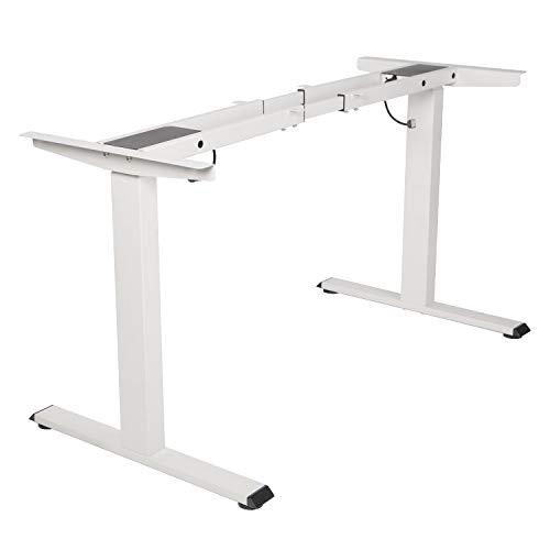 TOPSKY Elektrisch Höhenverstellbarer Schreibtisch mit Zwei Motoren/Kollisionschutz/Memory Funktion (Weiß)