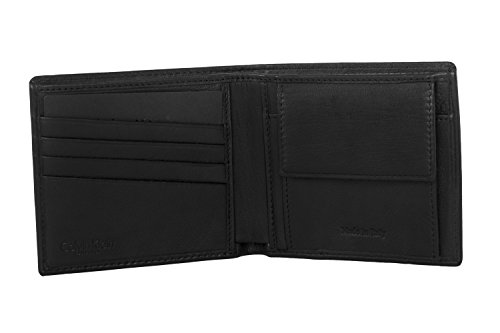 Mini portafoglio uomo CALVIN KLEIN nero pelle MADE IN ITALY + portamonete A5182