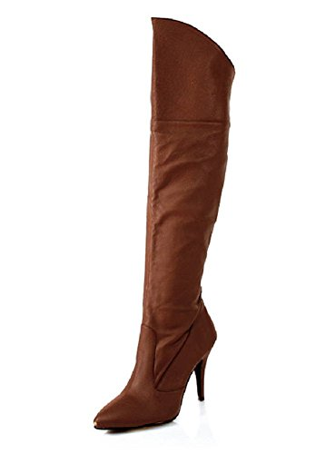High-Heels-Lederstiefel Vanity-2013 braun Gr. 36