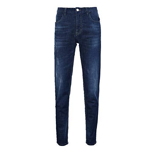 N\P Pantalones vaqueros de mezclilla elásticos leves para hombre