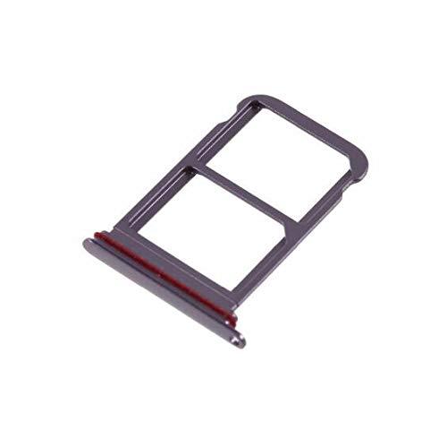 5 unids/Lote Parte de la Ranura de la Bandeja de la Tarjeta SIM Dual para Huawei P20 Pro Piezas de Repuesto del Adaptador de la Ranura del Soporte de la Bandeja de la Tarjeta SIM (púrpura)