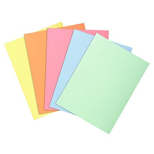 Exacompta 850300E Paquet de 30 Sous-Chemises SUPER 60 22 cm x 31 cm pour classement de documents format A4 épaisseur 60 g/m² coloris assortis ( bleu clair, bulle ivoire jaune, rose, vert clair)