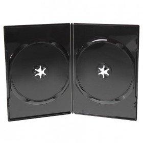 Amaray Boitiers Double DVD Slim, 7 mm, Noir, 50 Pièces