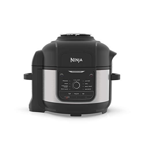 Ninja Foodi Electric Multi-Cooker [OP350UK] Pressure Cooker and Air Fryer, Grey and Black
