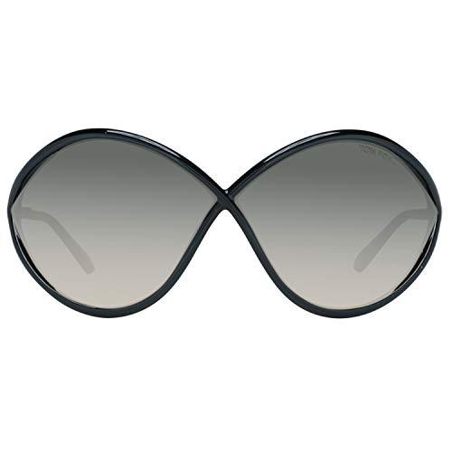 Tom Ford FT0528 01B Shiny Black Liora Butterfly Sunglasses Lens Category 2 Size