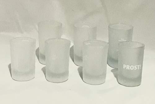 Jägermeister glazen 3 X 2/4 cl / 3 x 2cl / 1 x 2cl Prost / Pinch glazen / 7 stuks