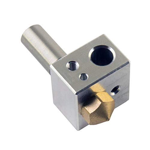 YuenPau MK10 Hotend-Kit für 3D-Drucker M7 Messingdüse und Hals mit PTFE-Rohr und Aluminium-Heizblock, passend für M3- und M4-Thermistor