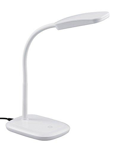 Reality Leuchten R52431101 Boa A+, LED Schreibtischleuchte, Acryl, 3.5 Watt, Integriert, Weiß, 25 x 11 x 36 cm
