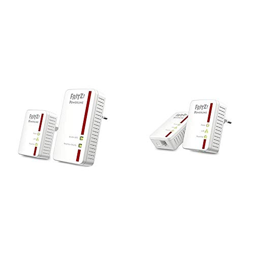 AVM Fritz Powerline 540E / 510E WLAN Set (500 MBit/s, WLAN-Access Point, Fast-Ethernet-LAN) & Fritz Powerline 510E Set (500 Mbit/s, Fast-Ethernet-LAN, internationale Version)