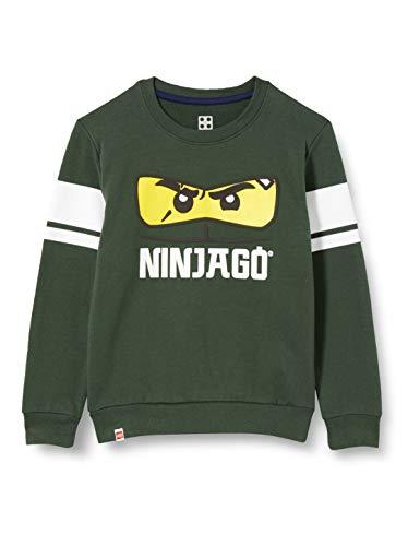 LEGO Jungen MWc Ninjago Sweatshirt, 871 Dark Green, 152