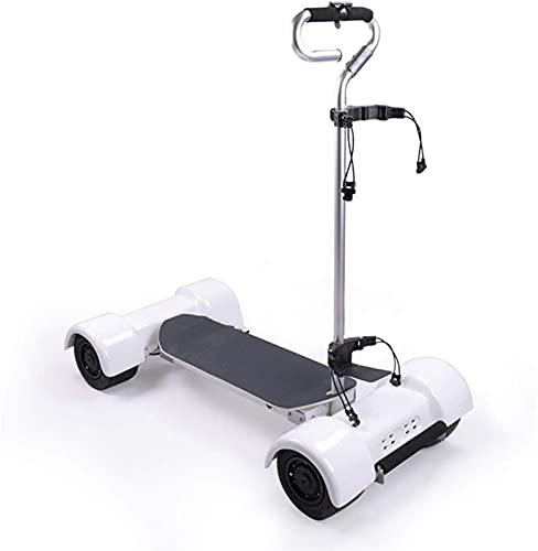 Carrito de Golf Carrito de golf eléctrico, carrito de golf motorizado de 4 ruedas, batería de litio de lujo blanco remoto...