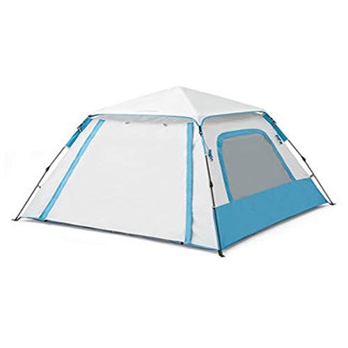 Zelten Family Camp Zelt Freien Vollautomatische Sonnenschutz verdickte Outdoor-Camping-Zelt Großer Platz Gazebozelt Kann 3 Personen (Color : Green, Size : One Size)