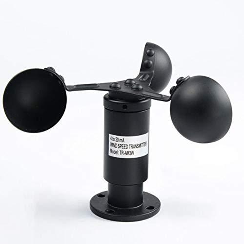 Zcyg Anemometer Wind Speed Meter 3 Cup Luftgeschwindigkeitssensor, Aluminiumlegierter Windgeschwindigkeitssensor Windmesser, for Hubschrauber Windsurfing Kite Etc