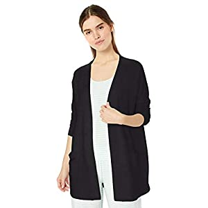 Amazon Essentials Women's Relaxed Fit Lightweight Lounge Terry Open-Front Cardigan