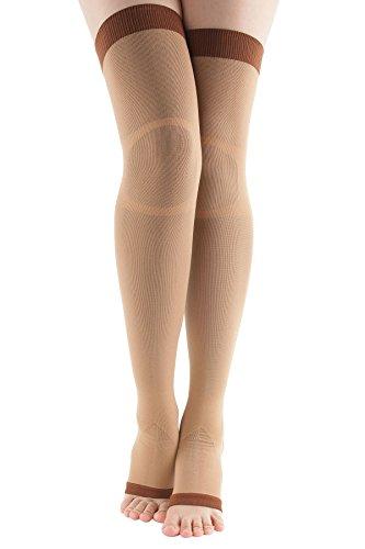 +MD Kniestrümpfe Overknee Strümpfe Damen Lange Socken Thigh High Socks Beinlinge Leggings Socken Nude EU39-42