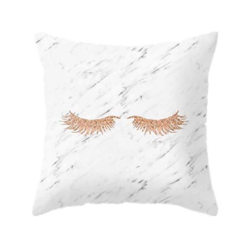 HAODEE Fundas para Cojines Cojines para Sofa Modernos Diseño único de la Funda de Almohada Funda de Almohada de algodón Poliéster Almohada 8