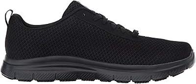 Skechers for Work Men's Flex Advantage Bendon Work Shoe, Black, 10 D(M) US
