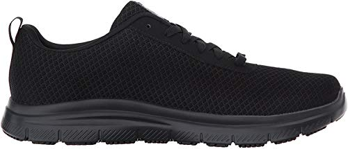 Skechers for Work Men's Flex Advantage Bendon Wide Work Shoe, Black, 12 W US